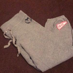 Gray sweat pants